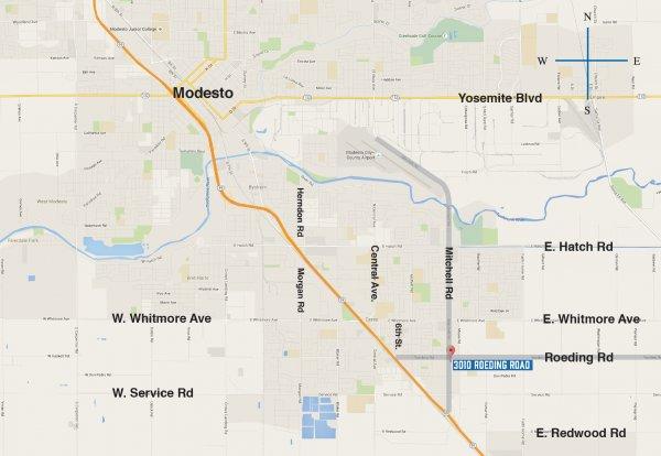 Roeding Road CeresModesto CA Land Devel Opp - California map modesto